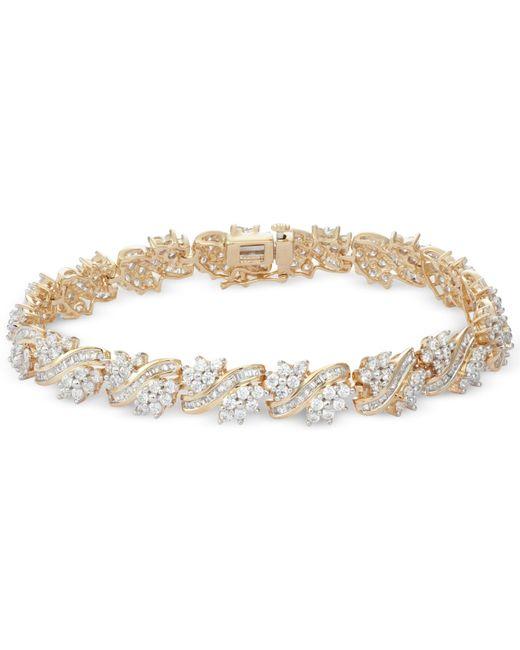 Macy's | Metallic Diamond Cluster Bracelet (5 Ct. T.w.) In 10k Gold | Lyst