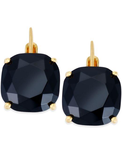 Kate Spade   Black Gold-tone Jet Crystal Small Drop Earrings   Lyst