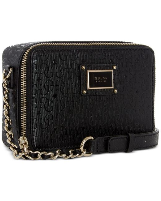 344ba30d29 ... Guess - Black Shannon Mini Crossbody Camera Bag - Lyst ...