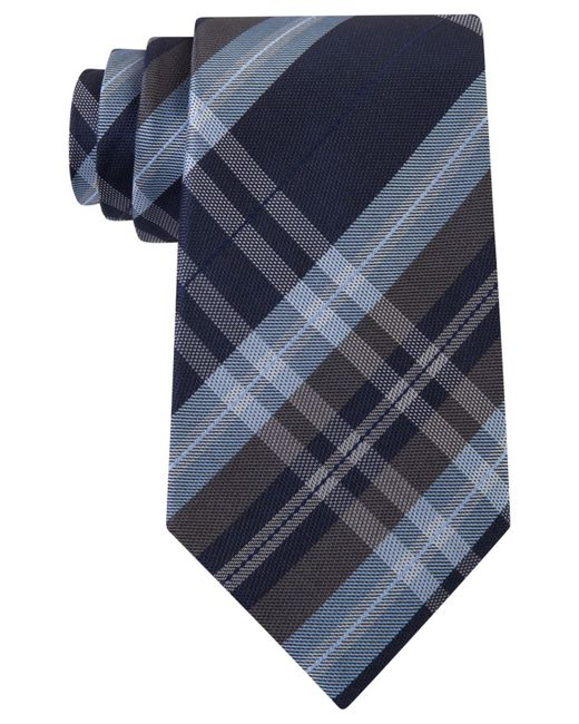 Kenneth Cole Reaction | Black Men's Plaid Classic Tie for Men | Lyst
