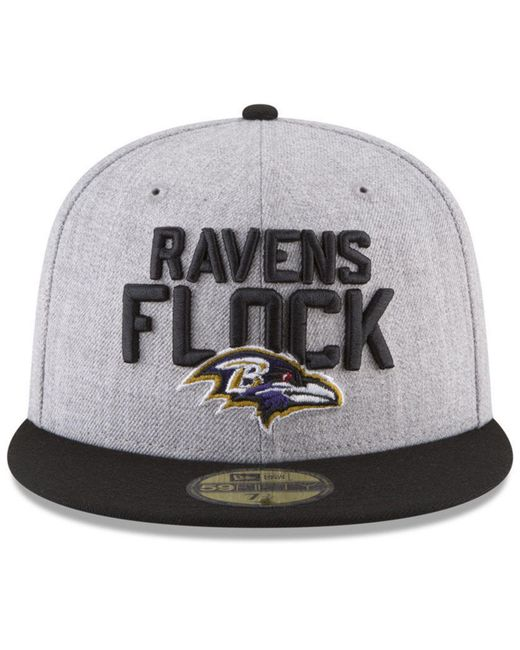 ... KTZ - Multicolor Baltimore Ravens Draft 59fifty Fitted Cap for Men -  Lyst ... 06bf856147da