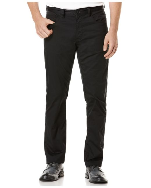 Perry Ellis | Black Big And Tall Five-pocket Sateen Stretch Pants for Men | Lyst