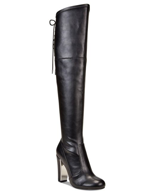 Material Girl | Black Priyanka Over-the-knee Stretch Boots, Only At Macy's | Lyst