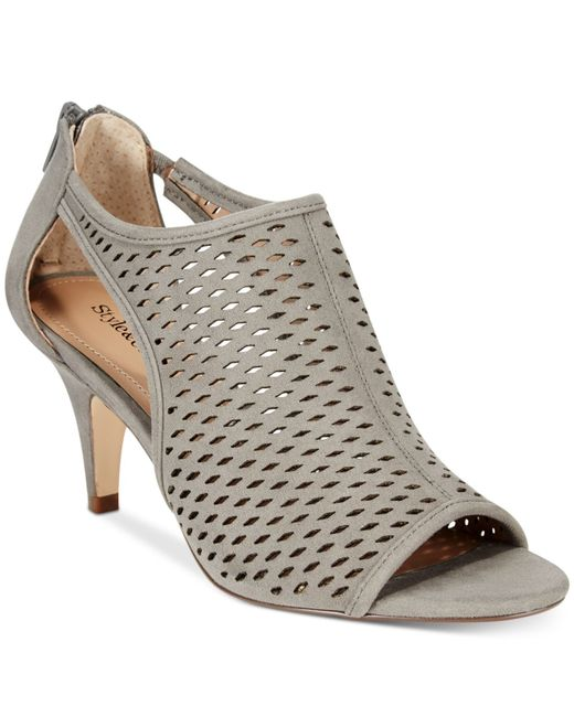 Style & Co. | Gray Haddiee Peep-toe Ankle Shooties | Lyst