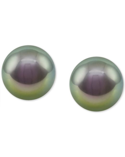 Majorica | Sterling Silver Imitation Gray Pearl Stud Earrings | Lyst