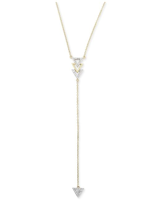 Macy's | Metallic Diamond Arrow Lariat Necklace (1/6 Ct. T.w.) In 14k Gold | Lyst