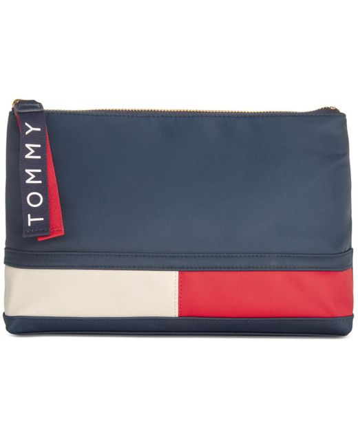 Tommy Hilfiger - Blue T-bottom Pouch - Lyst