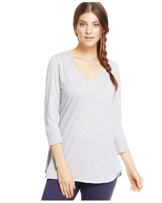 Lucky Brand | Gray V-neck Pajama Top | Lyst