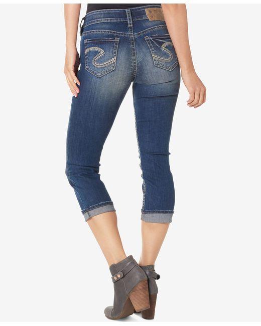 Silver Jeans Co. | Blue Suki Mid-rise Stretch Denim Skinny Jeans | Lyst