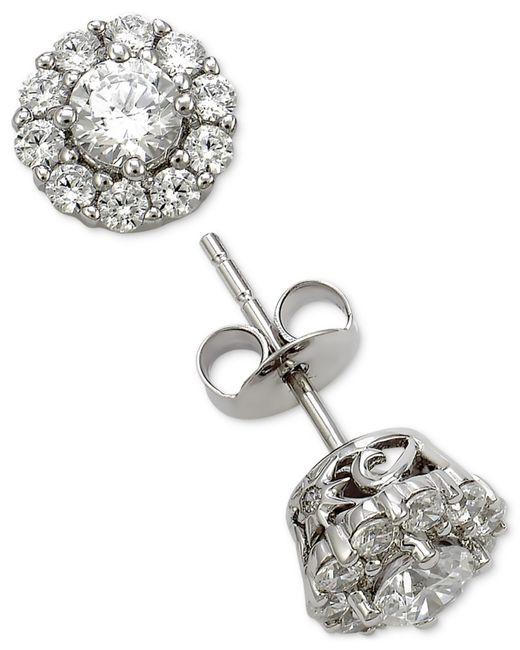 Marchesa   Metallic Diamond Cluster Stud Earrings (1 Ct. T.w.) In 18k White Gold   Lyst