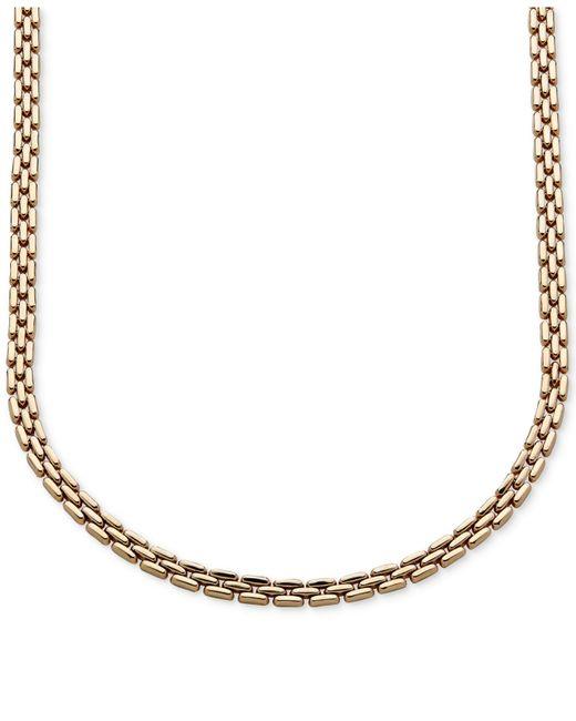 Macy's | Metallic 3 Row Link Collar Necklace In 14k Gold | Lyst