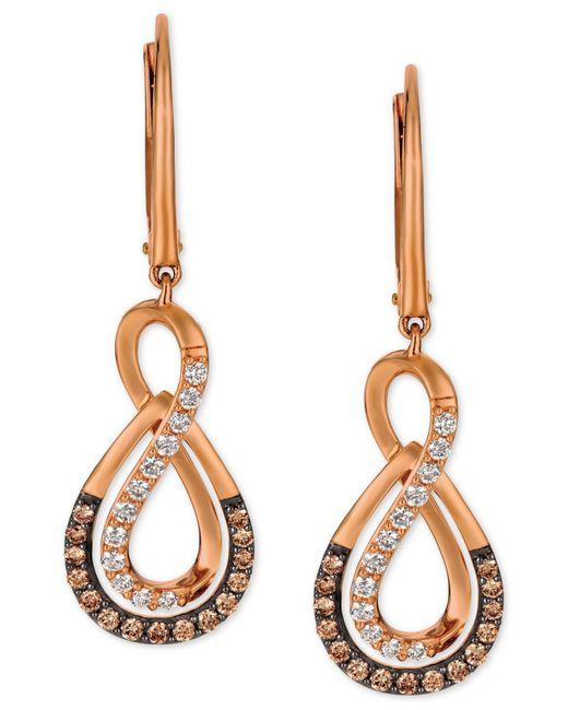 Le Vian | Metallic Diamond Infinity Drop Earrings (1/2 Ct. T.w.) In 14k Rose Gold | Lyst