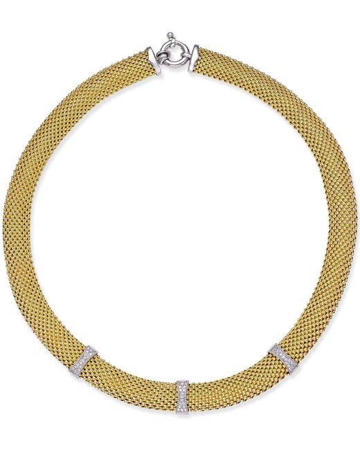 Macy's | Metallic Mesh Collar Necklace In 14k Vermeil Over Sterling Silver | Lyst