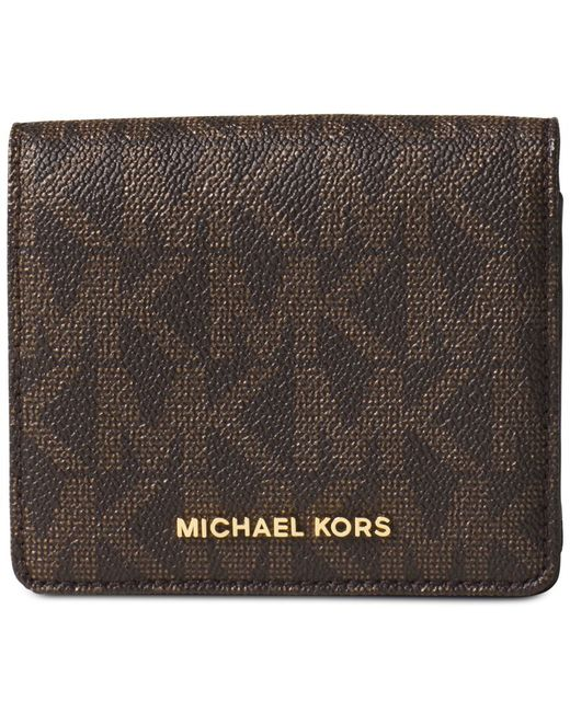 Michael Kors | Brown Michael Carryall Card Case | Lyst