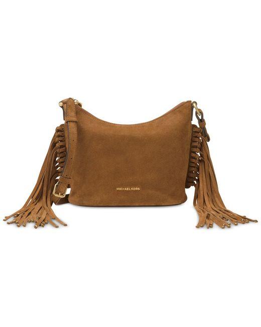 Michael Kors | Brown Fur Shoulder Bag | Lyst