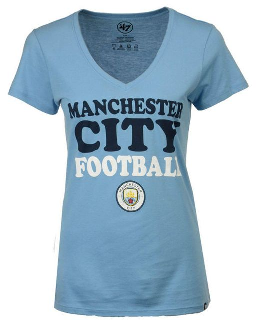 47 Brand - Blue Women's Club Team Wordmark T-shirt - Lyst
