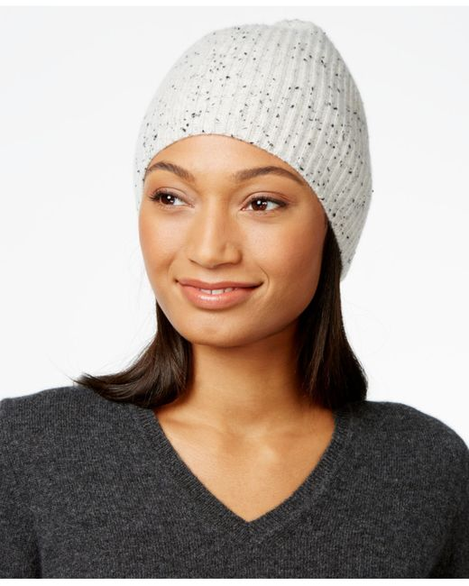 Charter Club | Multicolor Cashmere Donegal-knit Hat, Only At Macy's | Lyst