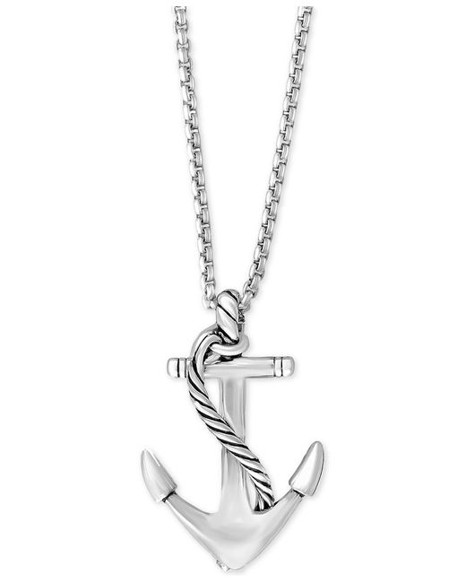 Effy Collection Effy Men S Anchor Pendant Necklace In