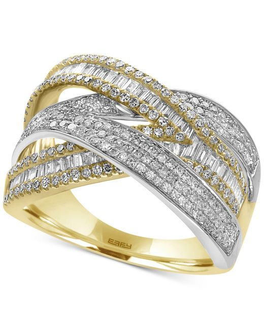 Effy Collection | Metallic Diamond Wrap Ring (1-1/4 Ct. T.w.) In 14k Yellow And White Gold | Lyst