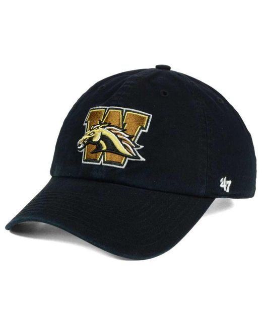 47 Brand - Black Western Michigan Broncos Clean Up Cap for Men - Lyst