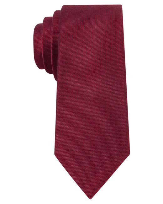 Michael Kors | Red Luxe Variation Solid Slim Tie for Men | Lyst