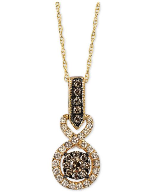 "Le Vian - Metallic Chocolatier® Diamond 18"" Pendant Necklace (3/8 Ct. T.w.) In 14k Gold - Lyst"