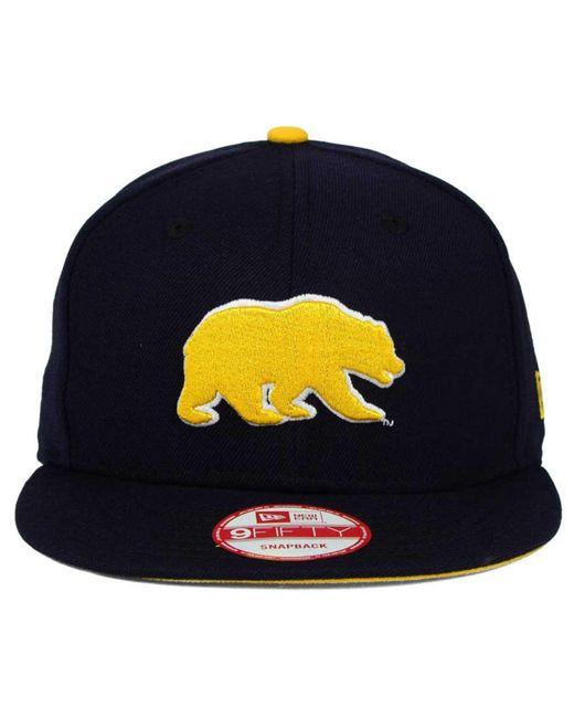 buy popular d45ad 6d258 ... KTZ - Blue California Golden Bears Core 9fifty Snapback Cap for Men -  Lyst ...