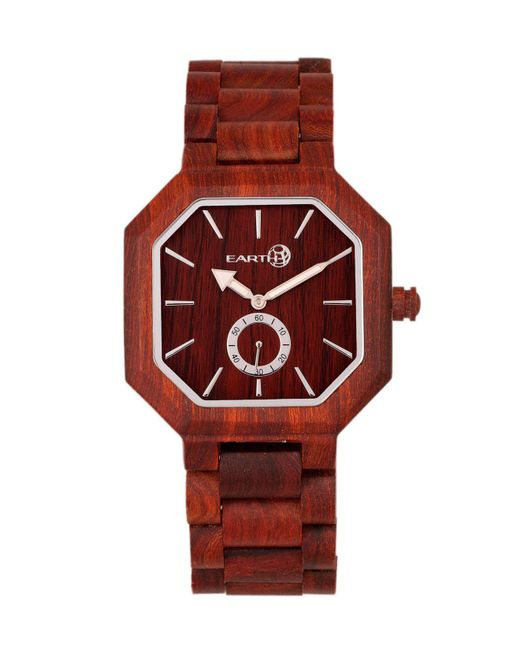 Earth Wood - Acadia Wood Bracelet Watch Red 43mm - Lyst