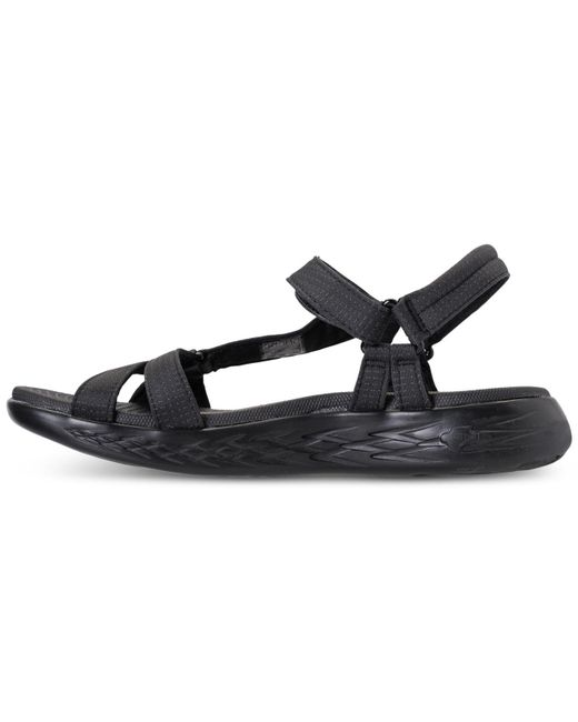 d9de0a3c6470 ... Skechers - Black On The Go 600 - Brilliancy Athletic Sandals From Finish  Line - Lyst ...