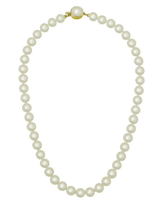 Majorica - Metallic 18k Gold Over Sterling Silver Necklace, Imitation Pearl - Lyst