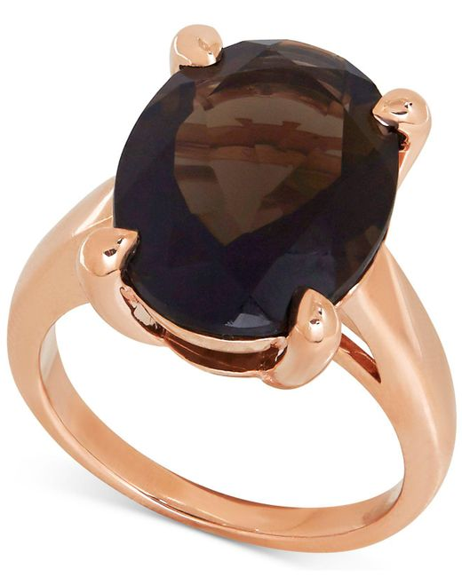 Macy's | Metallic Smoky Quartz Statement Ring (9-1/2 Ct. T.w.) In 14k Rose Gold | Lyst