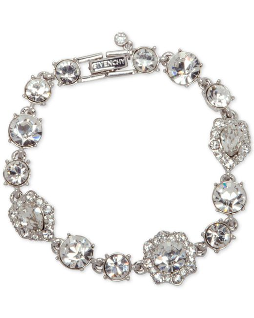 Givenchy - Metallic Stone And Crystal Link Bracelet - Lyst