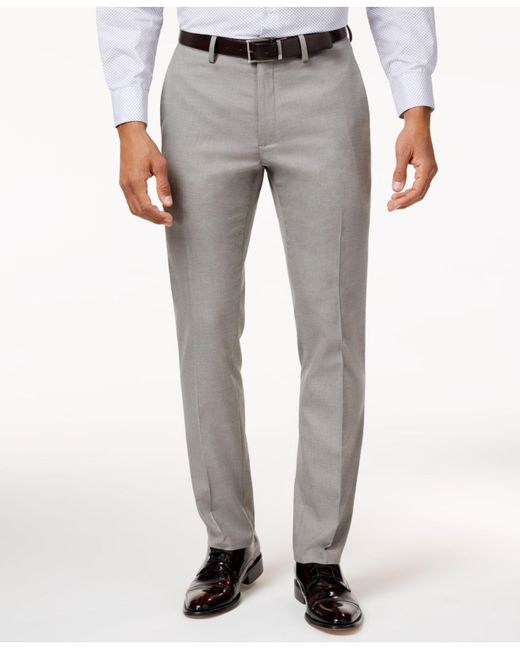 Kenneth Cole Reaction | Gray Men's Slim-fit Stretch Dress Pants for Men | Lyst