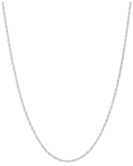 """Macy's - 14k White Gold Necklace, 18"""" Light Rope Chain - Lyst"""