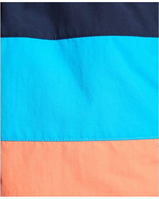 836707a5f5 ... Nautica - Blue Big & Tall Colorblocked Swim Trunks for Men - Lyst