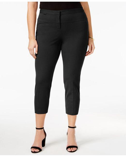 Alfani - Black Plus Size Straight-leg Pants - Lyst