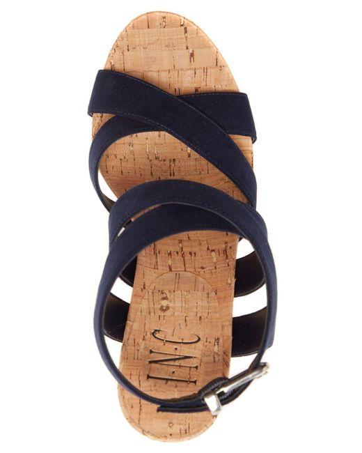 7b5abd1ef580 ... INC International Concepts - Blue Women s Landor Strappy Wedge Sandals  ...