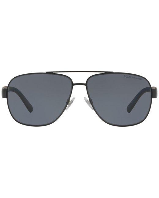 caf2912a31 ... denmark polo ralph lauren gray sunglasses ph3110 for men lyst 01846  a3094