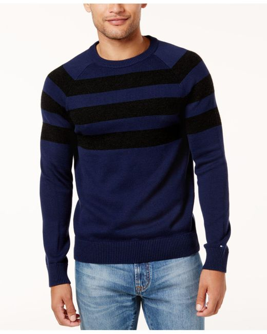 Tommy Hilfiger | Blue Men's Shaw Striped Sweater for Men | Lyst
