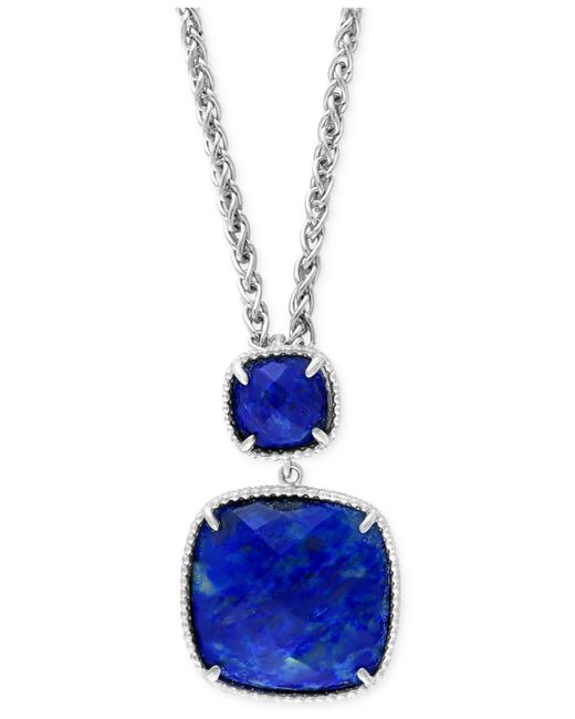 Effy Collection - Blue Effy Lapis Lazuli Pendant Necklace (18 Ct. T.w.) In Sterling Silver - Lyst