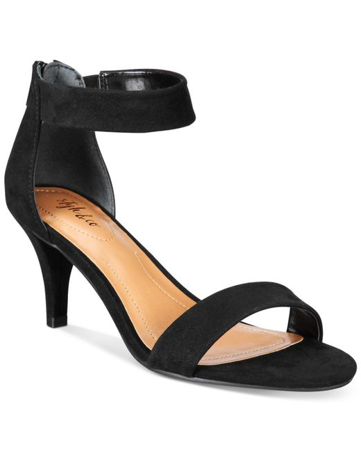 Style & Co. | Black Paycee Two-piece Dress Sandals | Lyst
