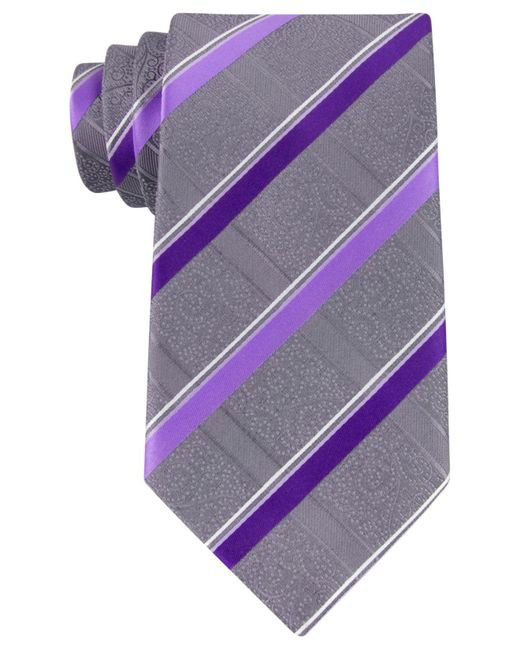 Geoffrey Beene | Purple Men's Stressless Stripe Tie for Men | Lyst