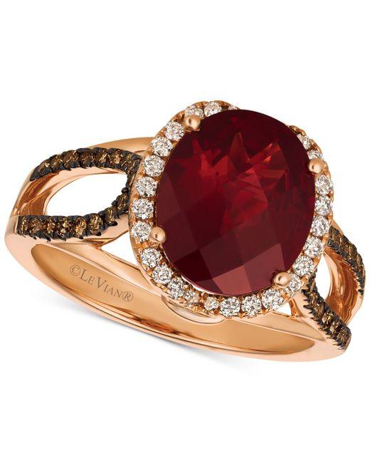 Le Vian - Multicolor Rhodalite Garnet (3-1/3 Ct. T.w.) & Diamond (3/8 Ct. T.w.) Ring In 14k Rose Gold - Lyst
