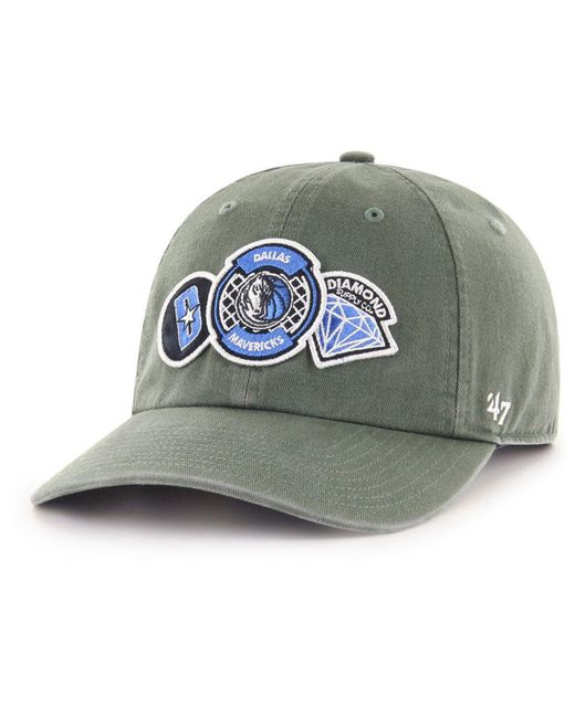 47 Brand - Multicolor Dallas Mavericks Diamond Patch Clean Up Mf Cap for  Men - Lyst ... 25478baf04a