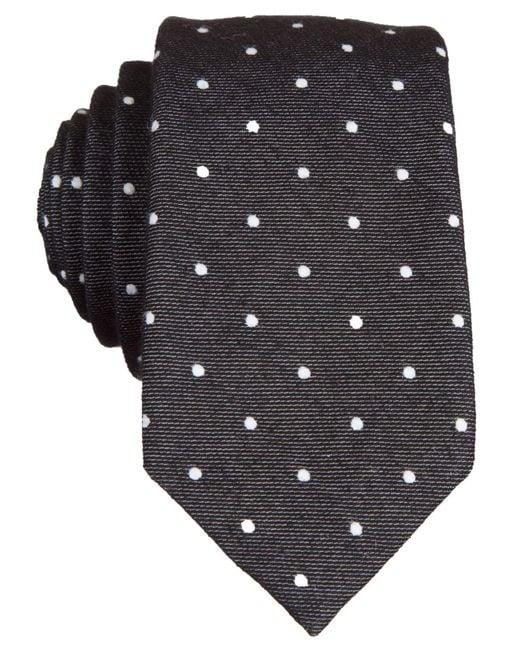 Original Penguin - Black Banville Dot Tie for Men - Lyst