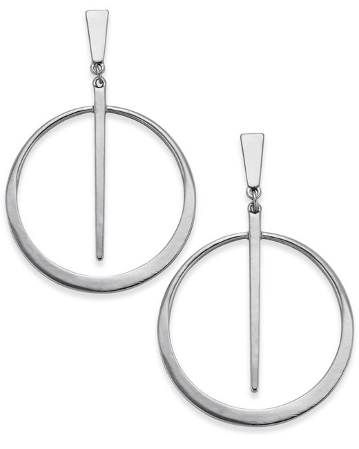 INC International Concepts | Metallic Gold-tone Circle & Spike Drop Earrings | Lyst