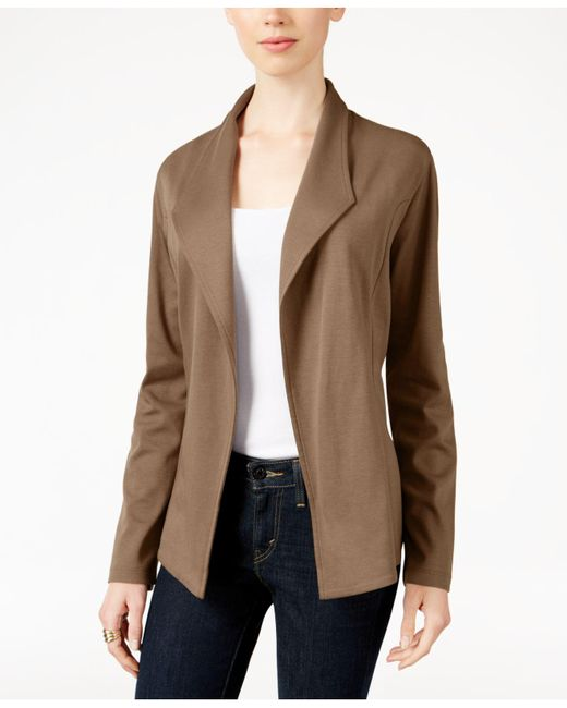 Style & Co. - Multicolor Open-front Long-sleeve Blazer - Lyst