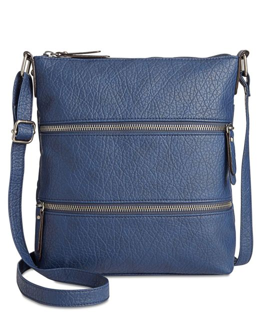 Style & Co. | Blue Vyniisha Multi Zip Crossbody | Lyst