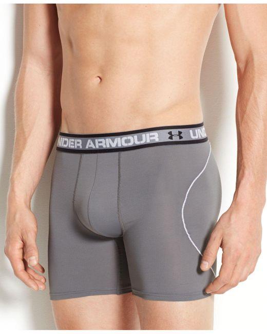 Under Armour | Gray Men's Iso-chill 6-inch Boxerjocks for Men | Lyst