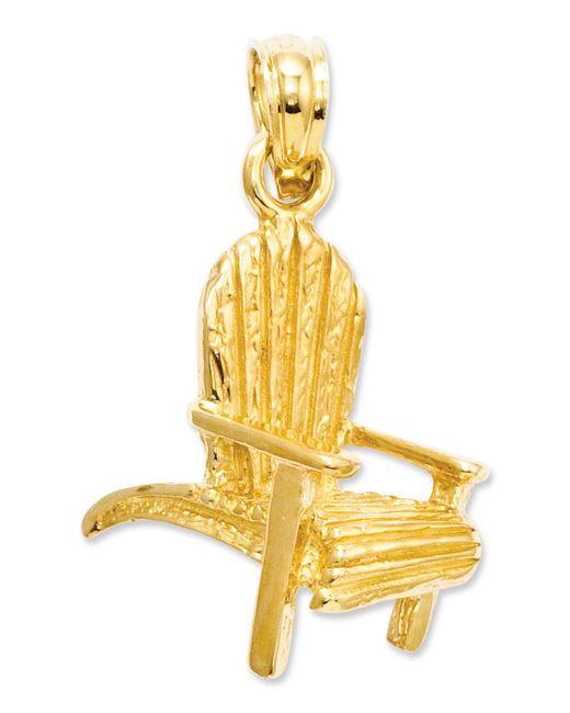 Macy's   Metallic 14k Gold Charm, Adirondack Beach Chair Charm   Lyst